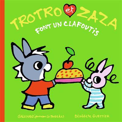 Trotro et Zaza font un clafoutis