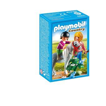 Playmobil Country 6950 Cavalière avec soigneur et poney