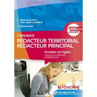 60297090f13 Annales corrigés Rédacteur Territorial   Rédacteur Principal Catégorie ...