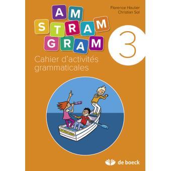 Cahier D Activites Grammaticales 3eme Annee Workbook