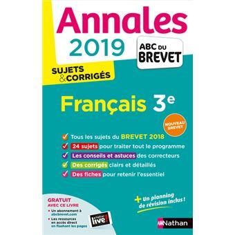 Annales Abc Du Brevet Francais 3eme Cycle 4