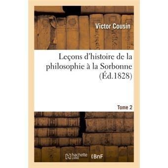 Leçons d'histoire de la philosophie à la Sorbonne