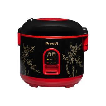 Cuiseur à riz Brandt Sushi Party 500 W Noir et Rouge