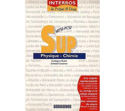 Physique chimie Sup MPSI-PCSI
