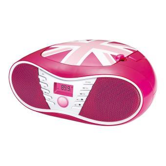 Lecteur Radio CD MP3 BigBen Interactive Union Jack Rose