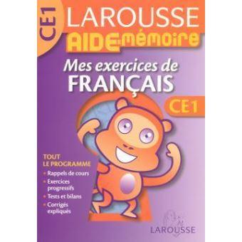 Mes Exercices De Francais Ce1 Broche Collectif Achat Livre Fnac