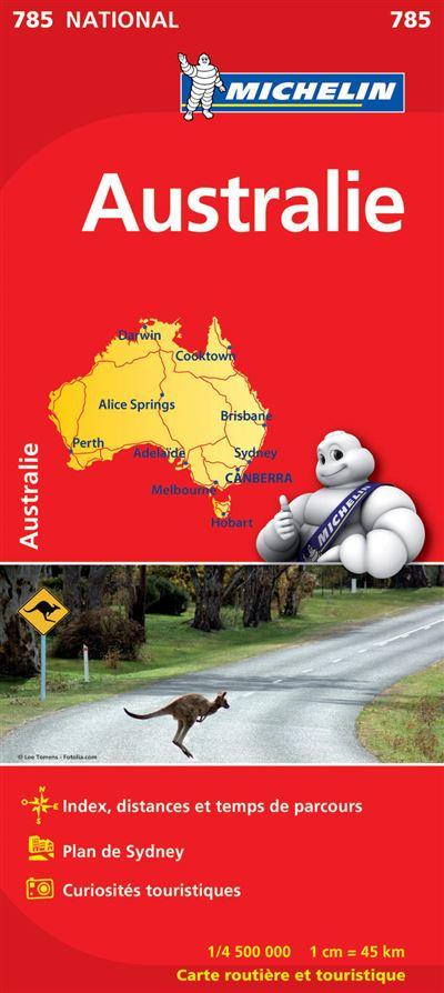 Carte Australie Michelin