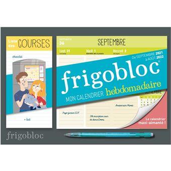 Calendrier Frigobloc 2022 Mini frigobloc hebdomadaire 2022   calendrier d'orga. familiale