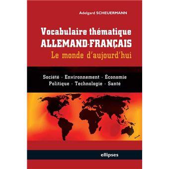 Vocabulaire Thematique Allemand Francais