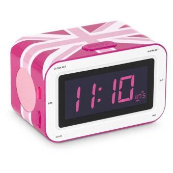 radio r veil double alarme bigben interactive rr30 union jack rose jouet multim dia achat. Black Bedroom Furniture Sets. Home Design Ideas