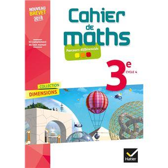 Dimensions Mathematiques 3e Ed 2018 Cahier De L Eleve