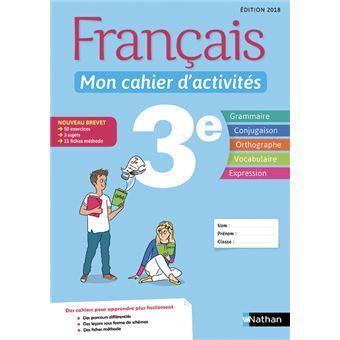 Francais 3eme Mon Cahier D Activites Workbook Cycle 4