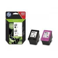 Pack de 2 cartouches d'encre HP 62 Noir et Couleur Exclusivité Web
