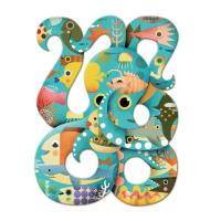 Puzzle 500p Octopus Djeco