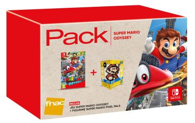 Pack Fnac Super Mario Odyssey Nintendo Switch + Figurine Pixel Pals Mario