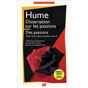 Dissertation sur les passions - Les passions