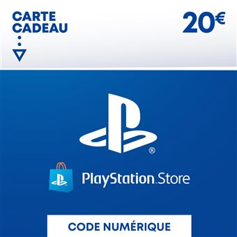 magasin vente en magasin très loué Code de téléchargement Playstation Store Fonds pour Porte-Monnaie virtuel  20€