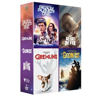 Coffret Ready Player One Gremlins Les Goonies Le géant de fer DVD