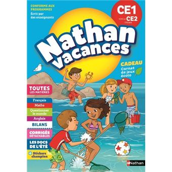 Nathan Vacances Primaire CE1 vers le CE2 7/8 ans