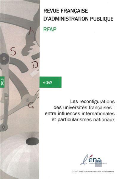 Les reconfigurations des universites francaises