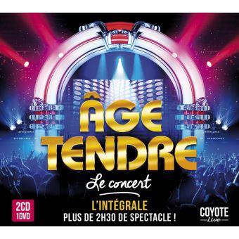 Age Tendre Concert Des 10 Ans Coffret Inclus DVD