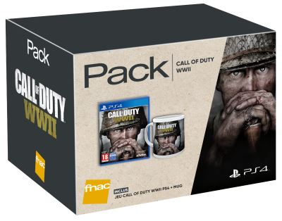 Pack Fnac Jeu Call of Duty World War II PS4 + Mug