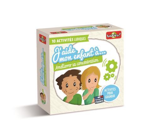 Jeu de découverte J'aide mon enfant à : Améliorer sa concentration Bioviva