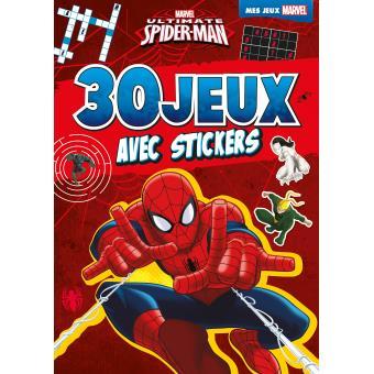 Spider man mes jeux avec stickers ultimate spiderman - Jeux de ultimate spider man gratuit ...