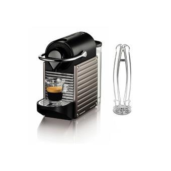Expresso Krups Nespresso Pixie Titane Et Avec Porte Capsules Yy3006fd Noir