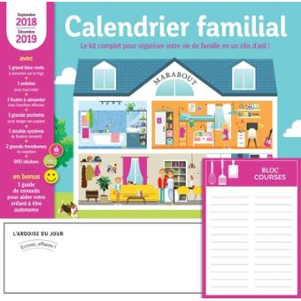 calendrier familial 2018 2019 broch collectif achat livre fnac. Black Bedroom Furniture Sets. Home Design Ideas