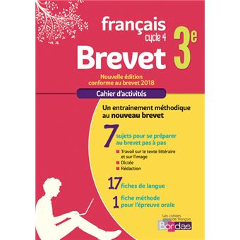 Cahier Francais Brevet 3eme Cycle 4 Cahier D Exercices Workbook