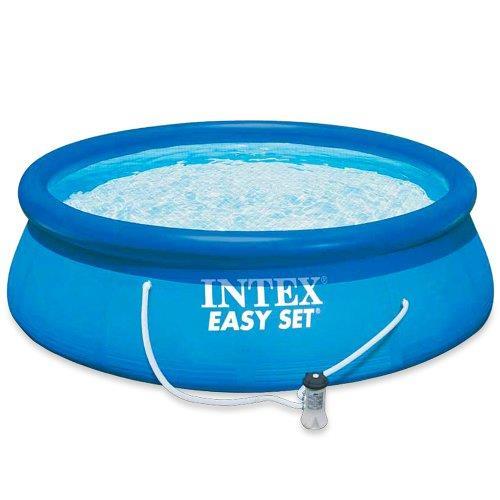 Piscine Gonflable Intex - Ronde - Easy set - 3,05 X 0,76 m - Épurateur + Cartouche inclus - Bleu