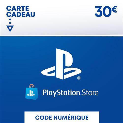 Code de téléchargement Playstation Store Fonds pour Porte-Monnaie virtuel 30
