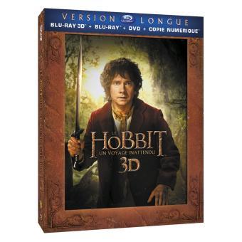 Bilbo le HobbitLe Hobbit : Un voyage inattendu - Version Longue Combo 2 Blu-Ray 3D + 3 Blu-Ray + 2 DVD