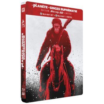 La planète des singesLa Planète des Singes Suprématie Edition Limitée Steelbook Blu-ray 3D + 2D