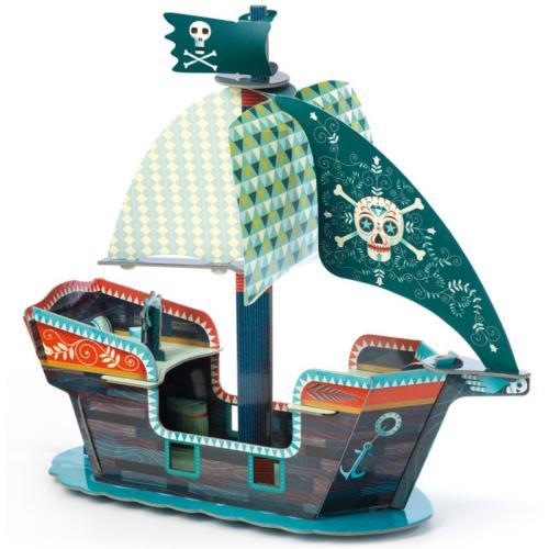 Puzzle 3D 23 pièces Bateau de pirate Djeco