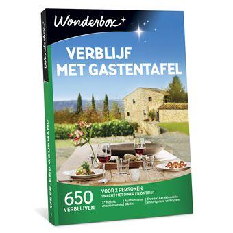 Wonderbox NL Verblijf met gastentafel