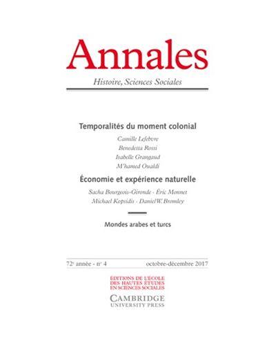 Annales histoire sciences sociales