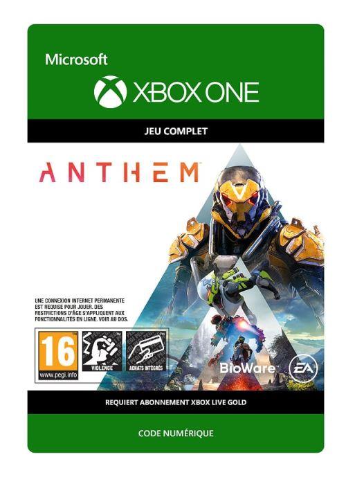 Code de téléchargement Anthem Xbox One
