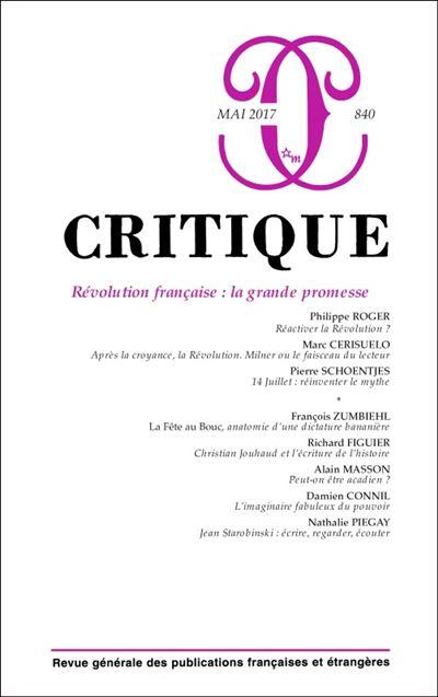 Critique 840