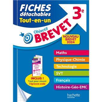Objectif Brevet 3e Fiches Detachables Tout En Un Nouveau Brevet