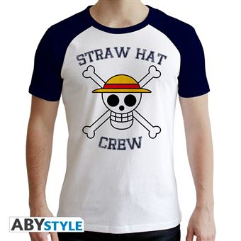 T-Shirt One Piece Skull Homme Taille XL Blanc