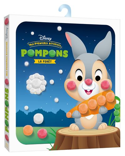 DISNEY BABY - Pochette Mes Premières Activités - Les Animaux de la forêt - Pompons