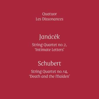 """Janacek : String Quartet number 2 """"Intimate Letters"""", Schubert : String Quartet number 14 """"Death and the Maiden"""" Inclus un livre"""