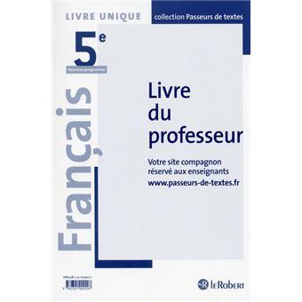 Francais 5eme Professeur Passeurs De Textes Cycle 4 2016