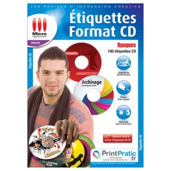 Turbo Micro Application étiquettes CD opaques - Papier pour imprimante NW51