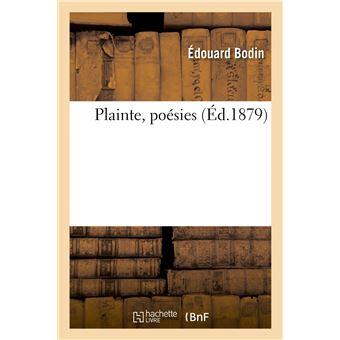 Plainte, poésies