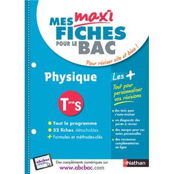 Maxi fiches ABC physique Term S