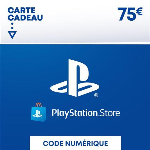 Code de téléchargement Playstation Store Fonds pour Porte-Monnaie virtuel 75