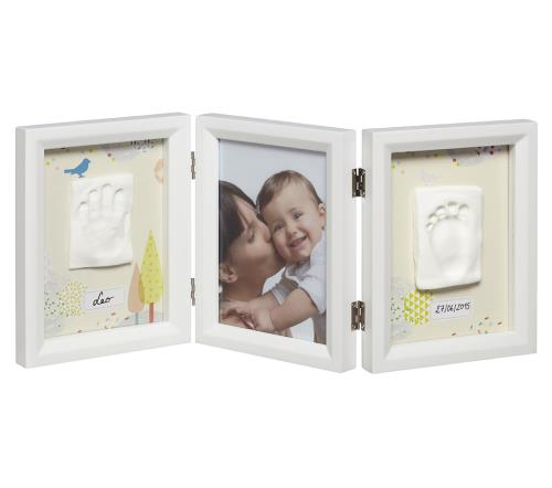 Cadre 3 volets Baby Art My Baby Touch Édition limitée Dreamy Blanc